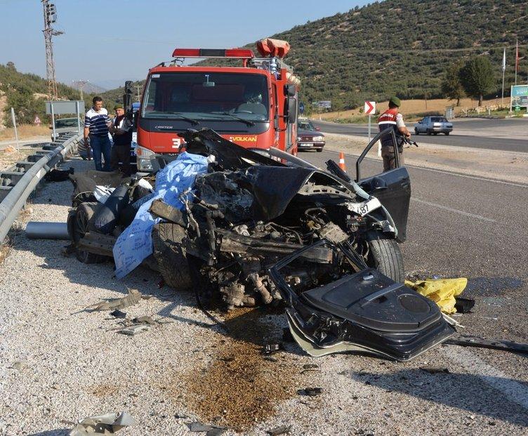 Feci kaza: Hız kadranı 170 kilometrede takılı kaldı