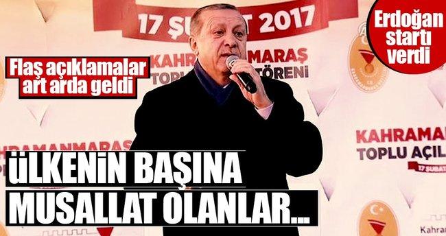 Cumhurbaşkanı Erdoğan referandum startını Kahramanmaraş'ta verdi