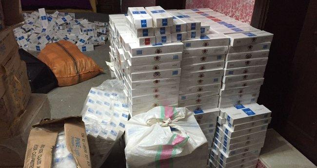 Van'da 70 bin paket kaçak sigara ele geçirildi