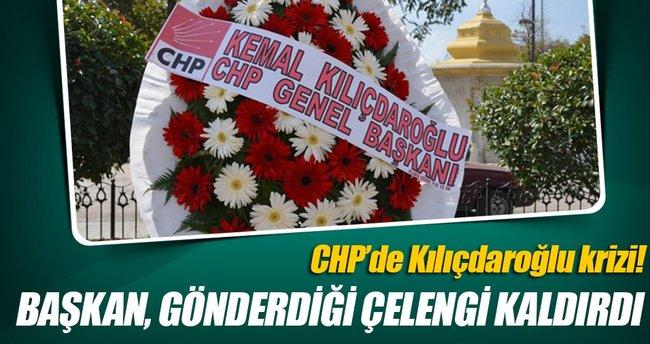 CHP'li Başkan, Kılıçdaroğlu'nun çelengini kaldırttı