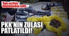 Kemalpaşa'da 8 PKK deposu bulundu!