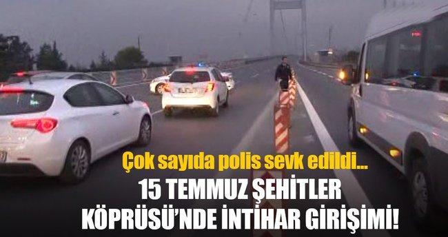 15 Temmuz Şehitler Köprüsü'nde tabancalı intihar girişimi