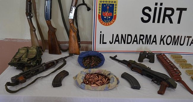 Siirt'te çok sayıda silah ve mühimmat ele geçirildi