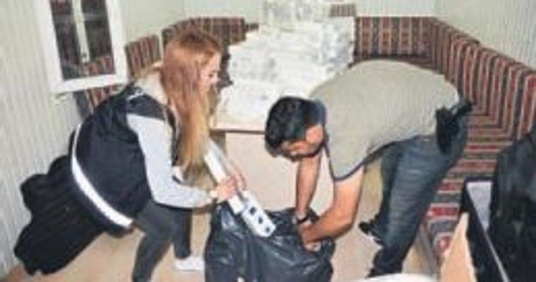 Adana'da kaçak sigara ele geçirildi