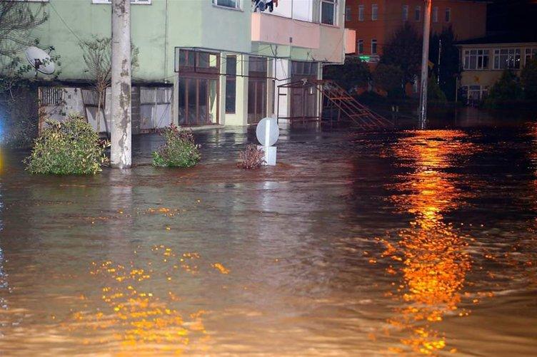 Mahalle sular altında kaldı