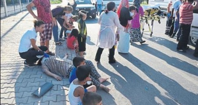 Kavşakta çarptı 8 kişiyi yaraladı