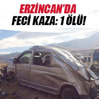 Minibüs takla attı: 1 ölü, 2 yaralı