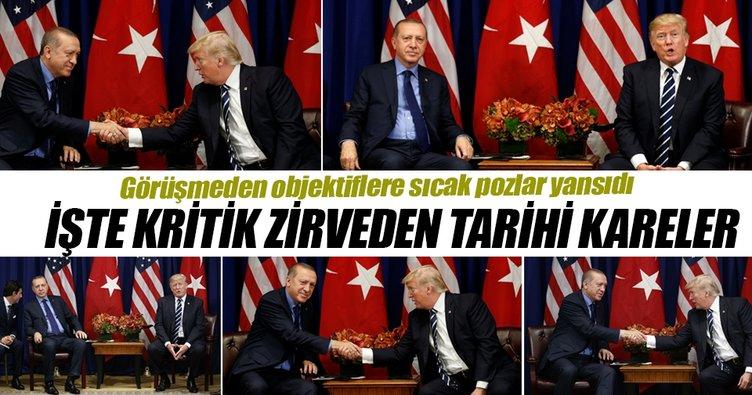 Erdoğan-Trump görüşmesinden kareler