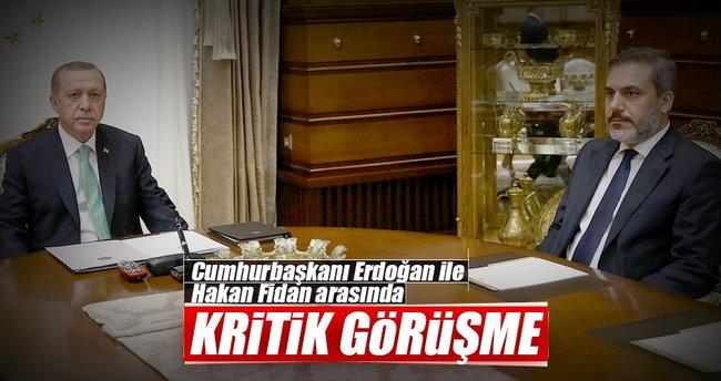 Cumhurbaşkanı Erdoğan Hakan Fidan'ı kabul etti