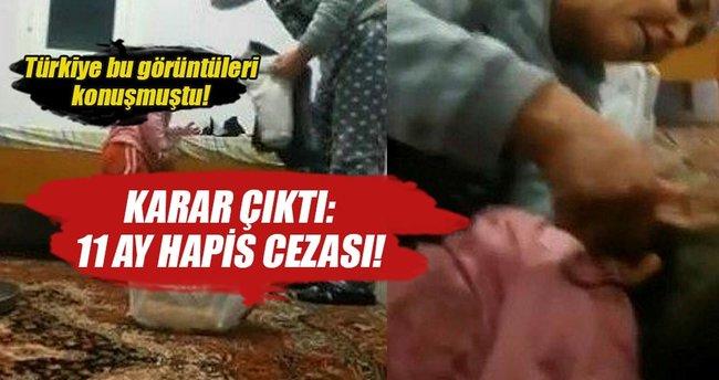 Kızını döven Özbek anneye 11 ay hapis cezası