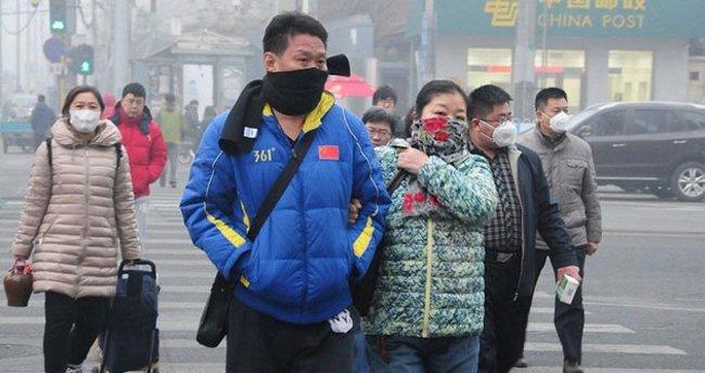 Çin'de hava kirliliği için sarı alarm