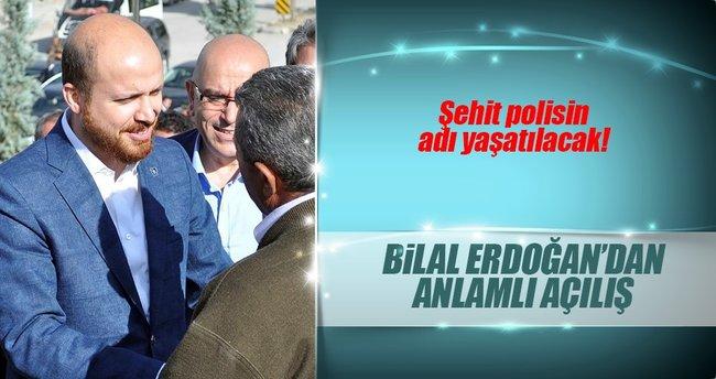 Bilal Erdoğan, şehit polis Cennet Yiğit adına yapılan parkın açılışına katıldı