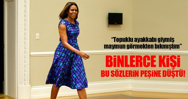 Michelle Obama'ya topuklu giymiş maymun benzetmesi