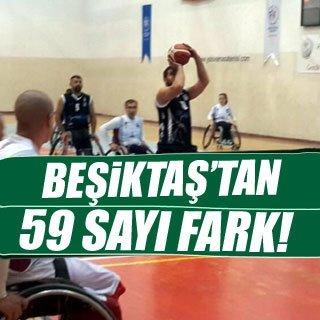 Beşiktaş'tan 59 sayı fark