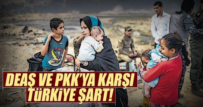 DEAŞ ve PKK'ya karşı Türkiye şart