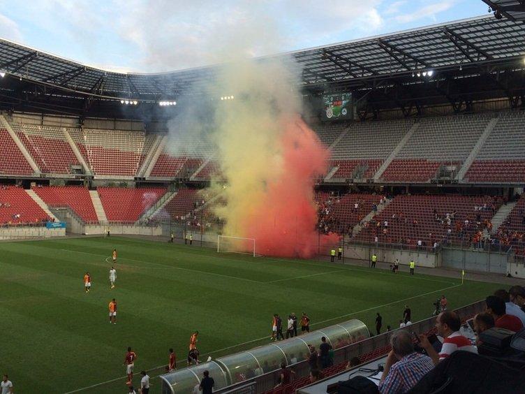 Galatasaray'ın maçı yarıda kaldı