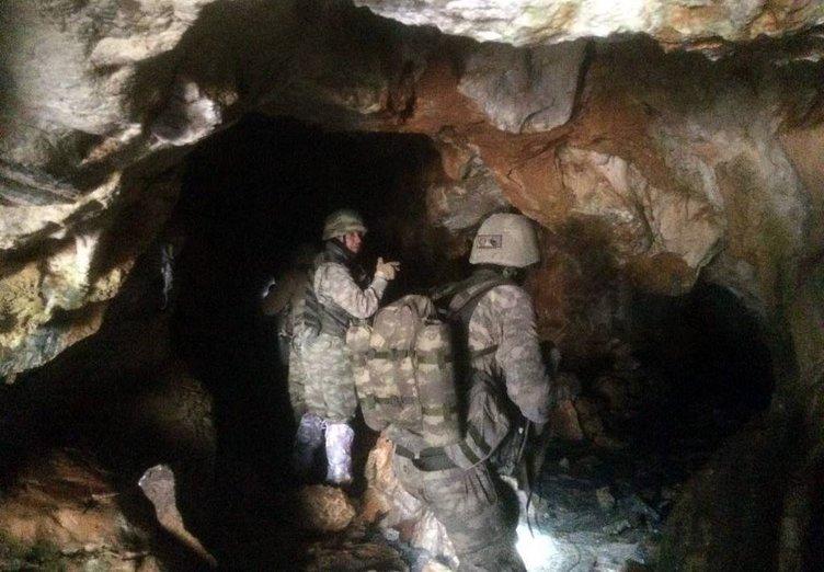 8 odalı PKK mağarasına dev operasyon