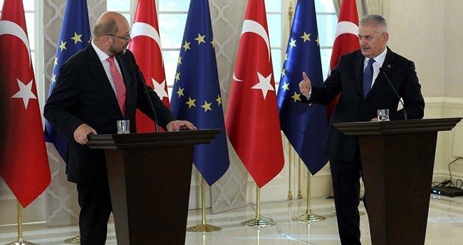 Başbakan Yıldırım, AP Başkanı Martin Schulz ile görüştü