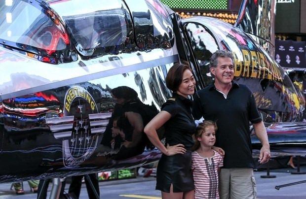 Times Meydanı'nda Uçak heyecanı