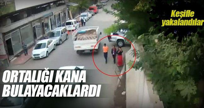 Siirt'te saldırı amaçlı keşif yapan teröristler görüntülendi