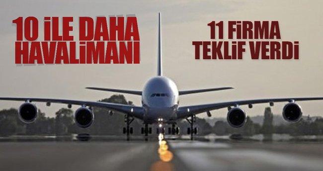 10 ile yeni havalimanları geliyor
