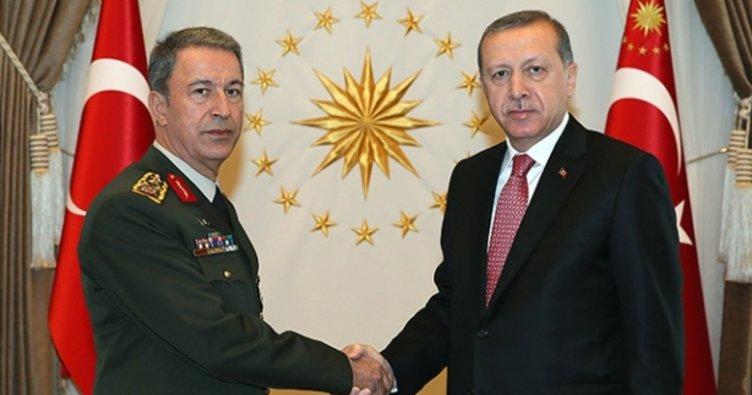 Cumhurbaşkanı Erdoğan Hulusi Akar'ı kabul etti