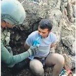 Yaralı terörist böyle yakalandı