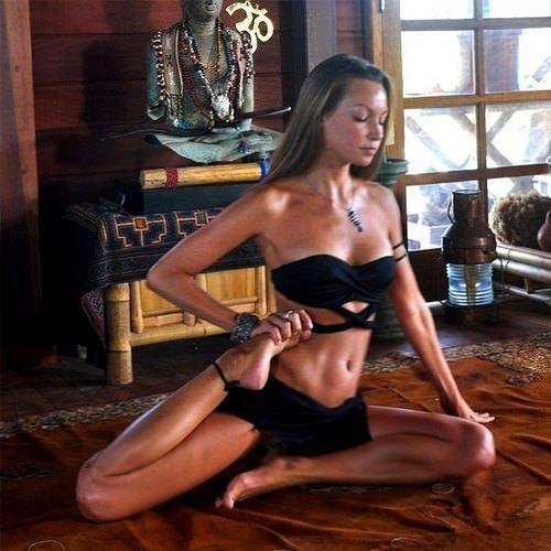 Yoga ile şov yapanlar!