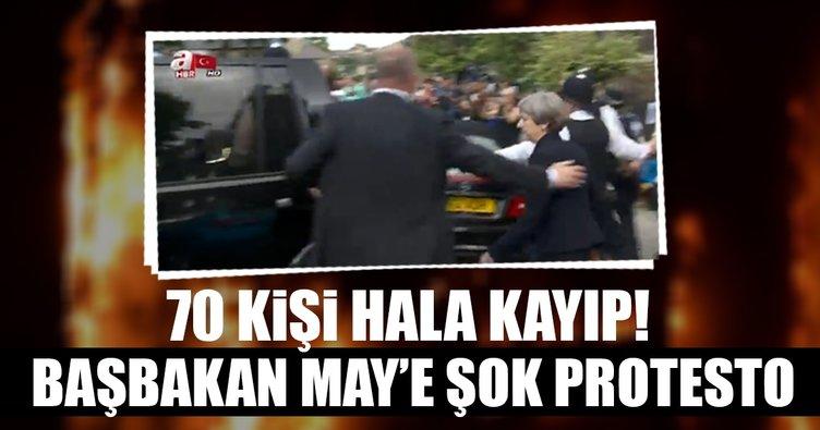 Başbakan May'e şok protesto
