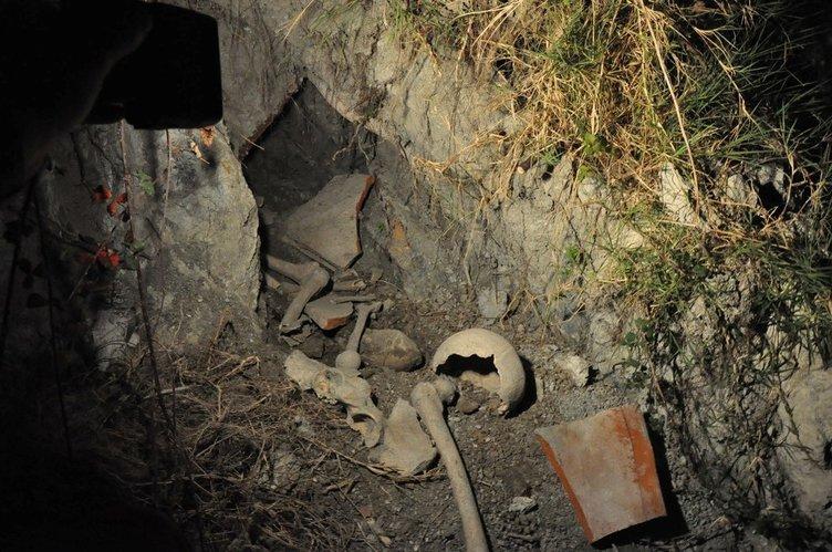 Baraj kenarında insan kemikleri bulundu