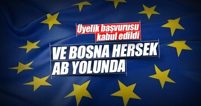 Bosna Hersek'ın AB başvurusu kabul edildi