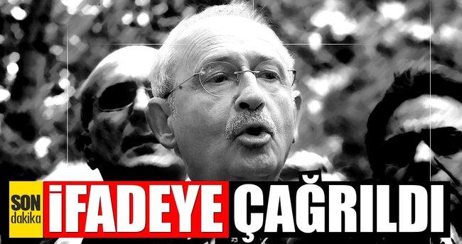 FLAŞ! Kılıçdaroğlu ifadeye çağrıldı