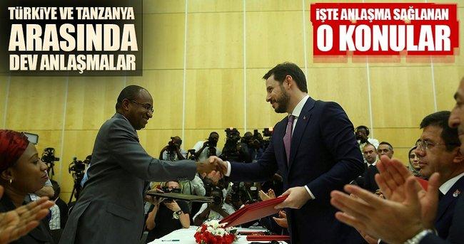 Tanzanya ile 9 anlaşma imzalandı