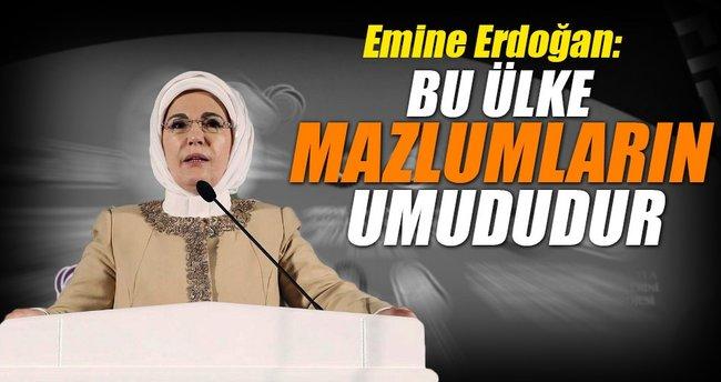 Emine Erdoğan: Mazlumlara umut dertlerine devayız