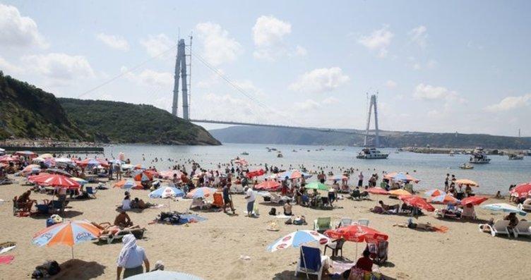 Boğaz'da deniz keyfi yollarda trafik!