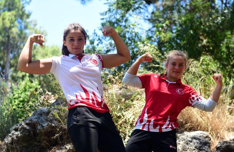Güreşçi kız kardeşler 'komando eğitimiyle' şampiyonalara hazırlanıyor