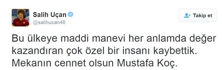 Sosyal medyada Mustafa Koç'un ölümü