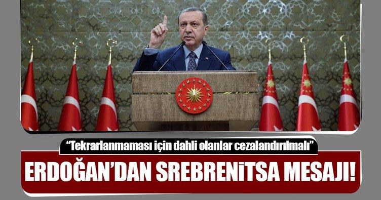 Cumhurbaşkanı Erdoğan Srebrenitsa katliamıyla ilgili mesaj yayınladı
