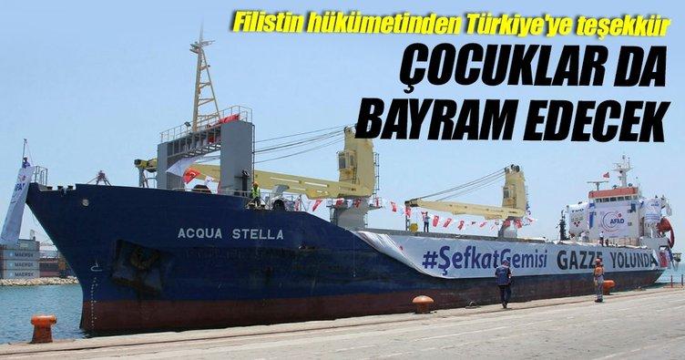 Filistin hükümetinden Türkiye'ye teşekkür