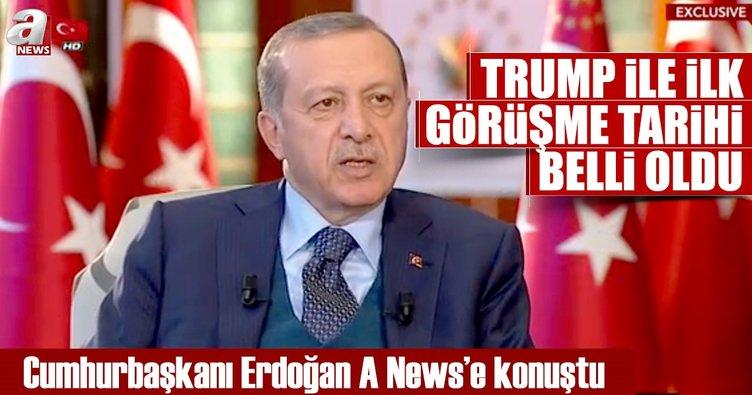 Cumhurbaşkanı Erdoğan, 16-17 Mayıs'ta Trump ile görüşecek