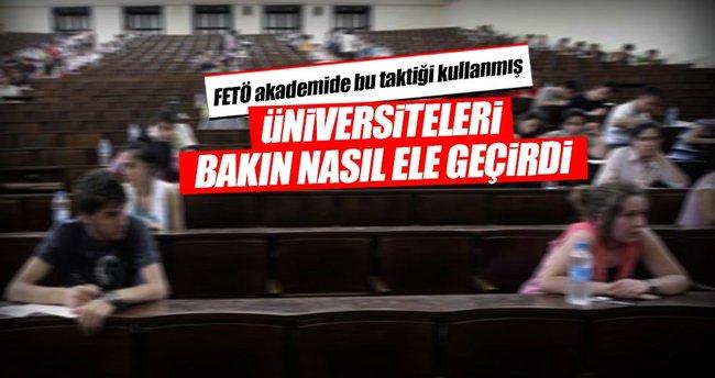 FETÖ üniversiteleri böyle ele geçirdi