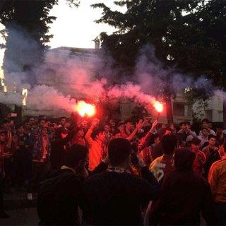 Galatasaray taraftarından Florya`da protesto