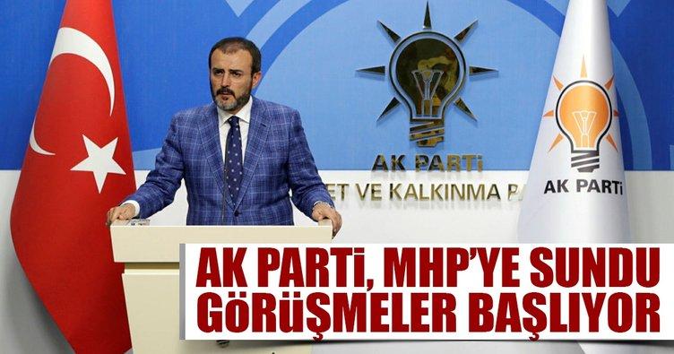 AK Parti MHP'ye iç tüzük paketini sundu