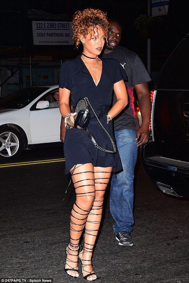 Rihanna geceye spor başladı klasik bitirdi