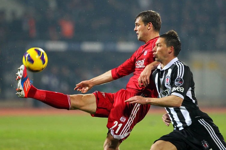 Sivasspor - Beşiktaş maçından kareler