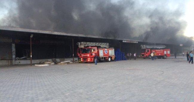 Antalya'da halde korkutan yangın