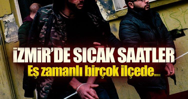 İzmir'de terör operasyonunda 15 gözaltı