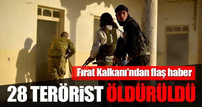 Fırat Kalkanı Harekatında 24 terörist öldürüldü