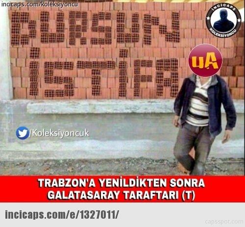 Trabzonspor - Galatasaray maçı capsleri...
