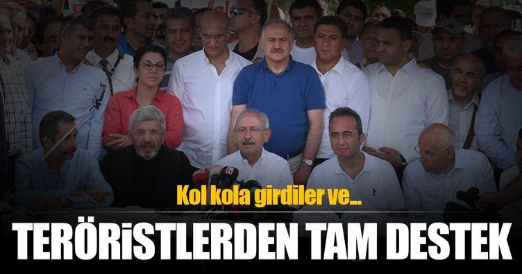 Kılıçdaroğlu'nun yürüyüşüne terörist desteği!